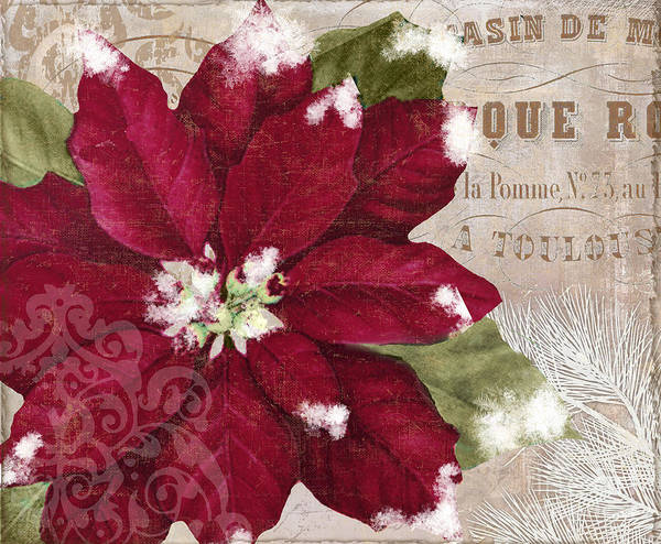 Christmas Flowers Painting - Christmas Poinsettia by Mindy Sommers