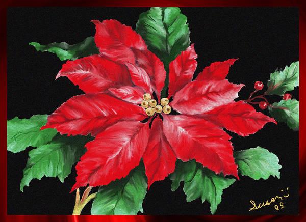 Painting - Christmas Poinsettia by Susan Kinney