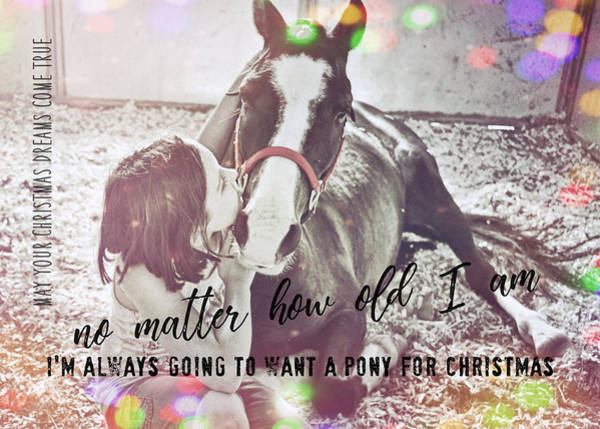 Photograph - Christmas Pony Quote by JAMART Photography