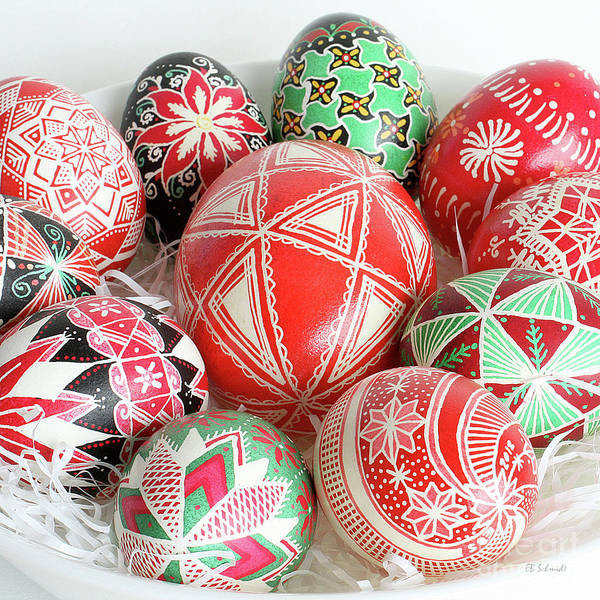 Photograph - Christmas Pysanky Square Image by E B Schmidt