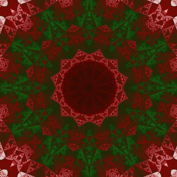 Christmas Quilt Art Print