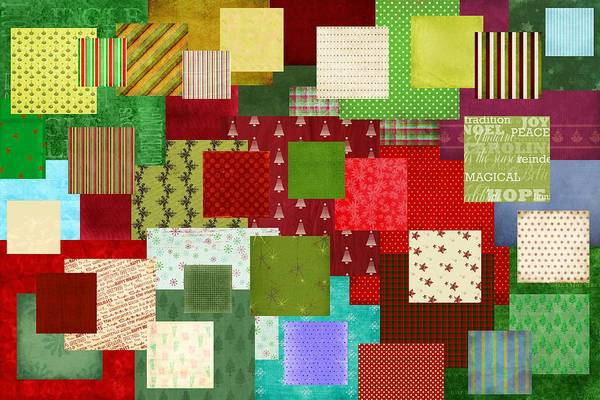 Christmas Season Wall Art - Digital Art - Christmas Quilt by Steve Ohlsen