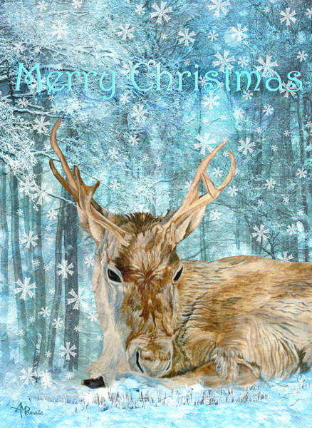 Painting - Christmas Reindeer by Angeles M Pomata
