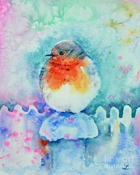 It Professional Painting - Christmas Robin by Zaira Dzhaubaeva