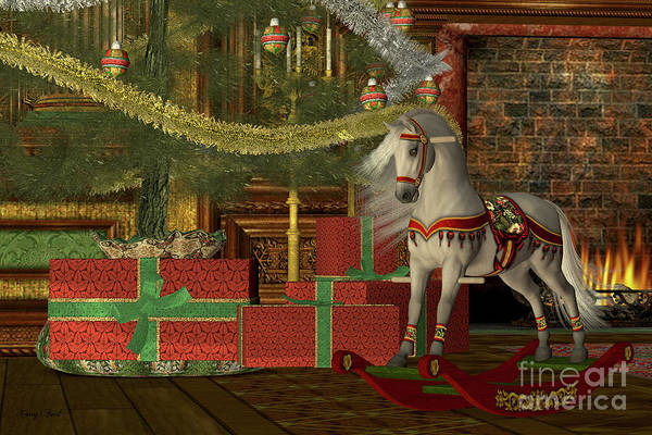 Bauble Digital Art - Christmas Rocking Horse by Corey Ford