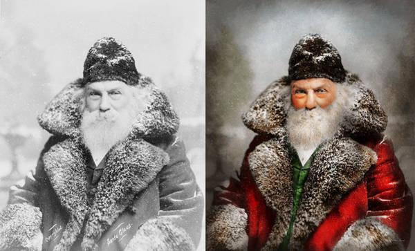 Wizard Hat Wall Art - Photograph - Christmas - Santa - Saint Nicholas 1895 - Side By Side by Mike Savad
