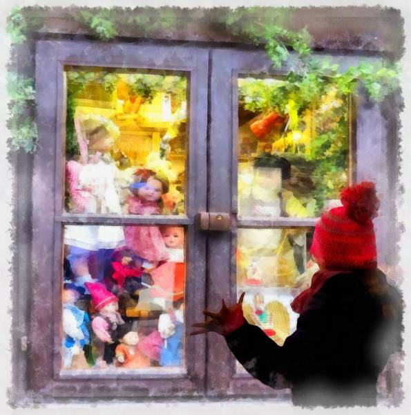 Wall Art - Painting - Christmas Shop Window by Esoterica Art Agency
