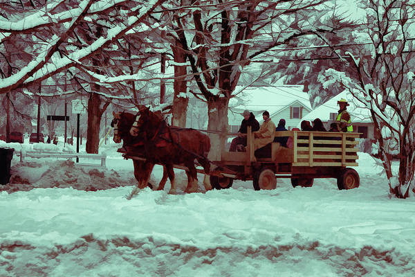 Photograph - Christmas Sleigh Ride by Jeff Folger