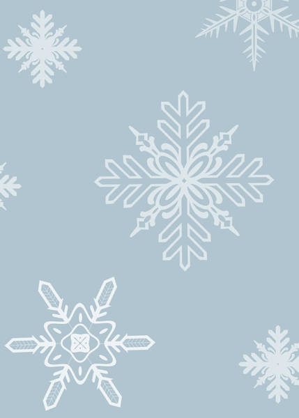 Frosty Digital Art - Christmas Snowflakes - No Text  by Maggie Terlecki