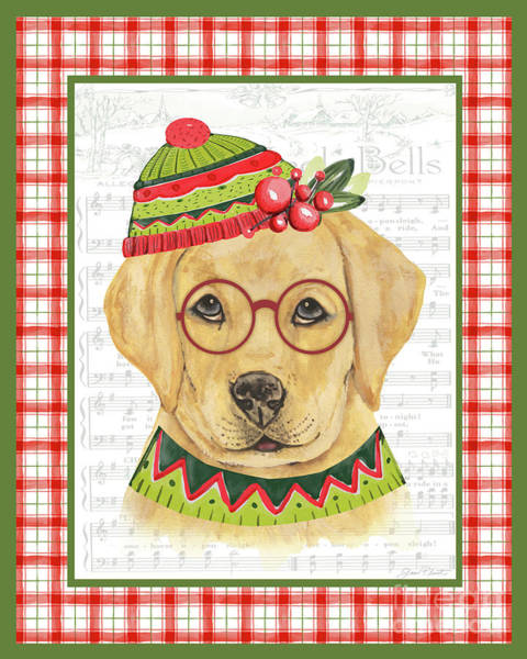 Wall Art - Painting - Christmas Song Dog by Jean Plout