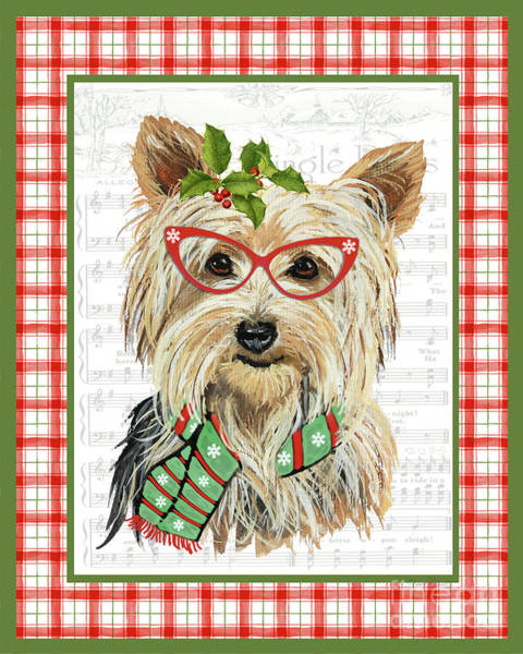 Wall Art - Painting - Christmas Song Dogs-d by Jean Plout