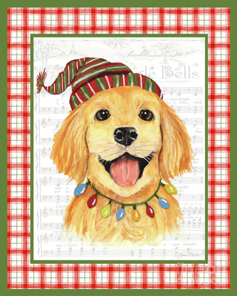 Wall Art - Painting - Christmas Song Dogs-e by Jean Plout