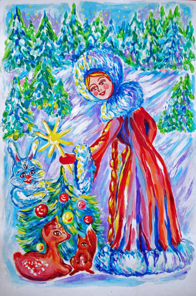 Master Piece Painting - Christmas Star by Katreen Queen