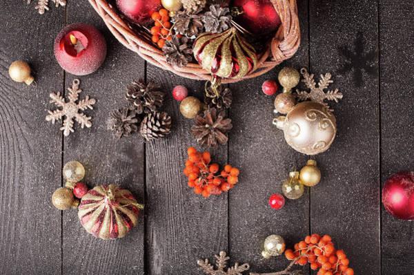 Rowan Photograph - Christmas Still Life by Vadim Goodwill