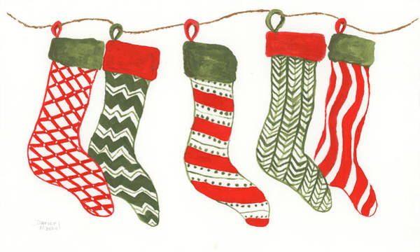 Painting - Christmas Stockings by Darice Machel McGuire