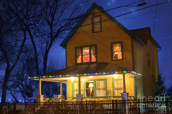 Neighborhood Photograph - Christmas Story House by Juli Scalzi