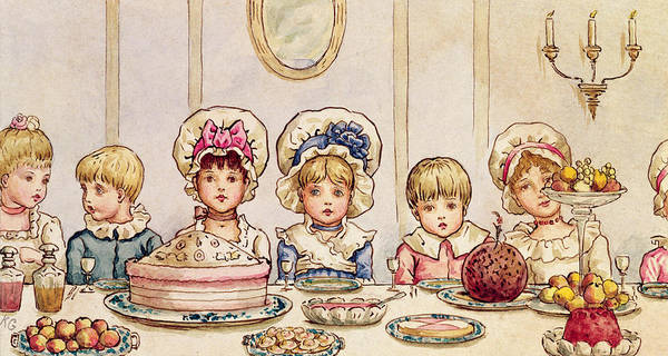 Spread Painting - Christmas Supper by Kate Greenaway