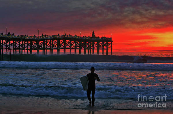 Photograph - Christmas Surfer Sunset by Sam Antonio Photography