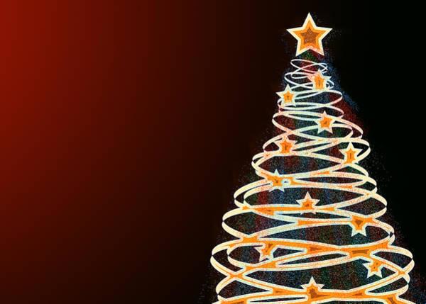 Xmas Digital Art - Christmas Swirl Tree by Maggie Terlecki