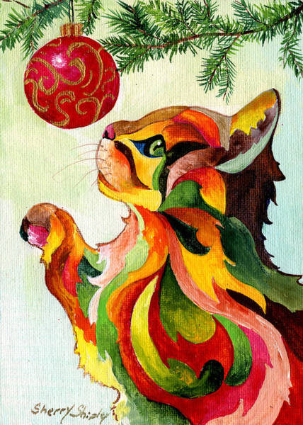 Painting - Christmas Tempation by Sherry Shipley