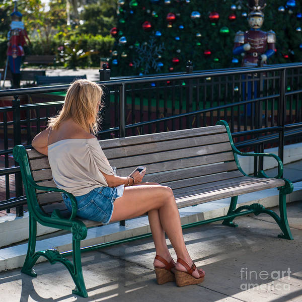 Photograph - Christmas Texting by Dale Powell