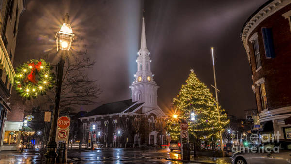 Photograph - Christmas Time In Portsmouth, New Hampshire. by New England Photography
