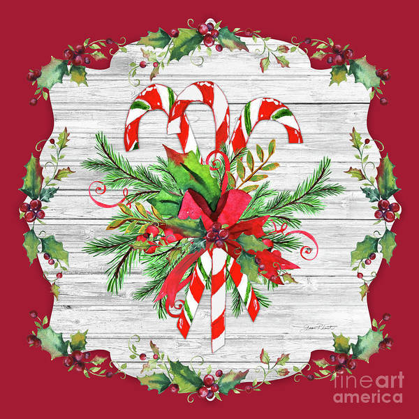 Wall Art - Painting - Christmas Treasures B by Jean Plout
