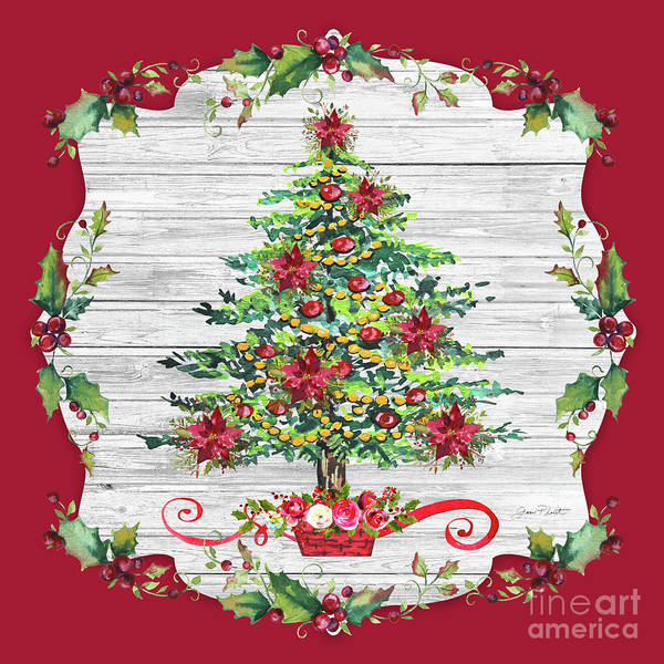 Wall Art - Painting - Christmas Treasures D by Jean Plout