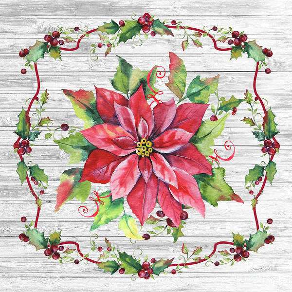 Wall Art - Painting - Christmas Treasures E by Jean Plout