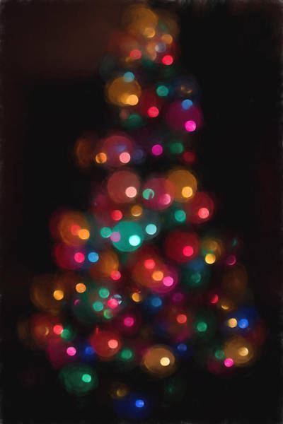 Photograph - Christmas Tree Circles Abstract  by Terry DeLuco