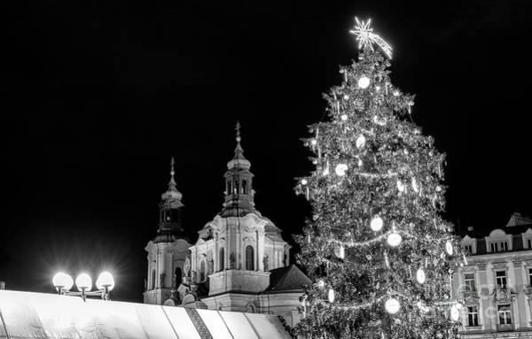 Photograph - Christmas Tree In Prague by John Rizzuto
