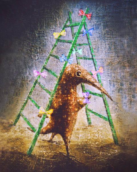 Birdman Painting - Christmas Tree by Lolita Bronzini