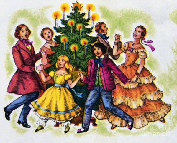 Carol Singing Photograph - Christmas Tree. by Stan Pritchard