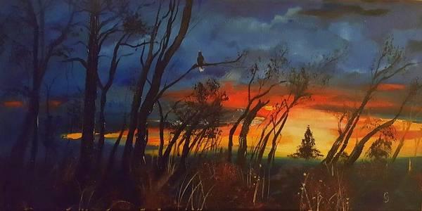 Painting - Christmas Tree Sunrise    106 by Cheryl Nancy Ann Gordon
