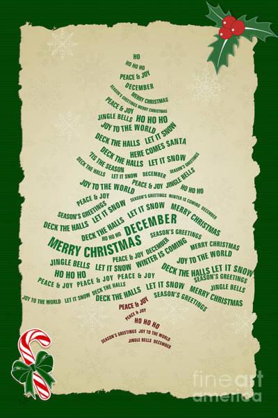 Wall Art - Digital Art - Christmas Tree Thoughts by Peter Awax