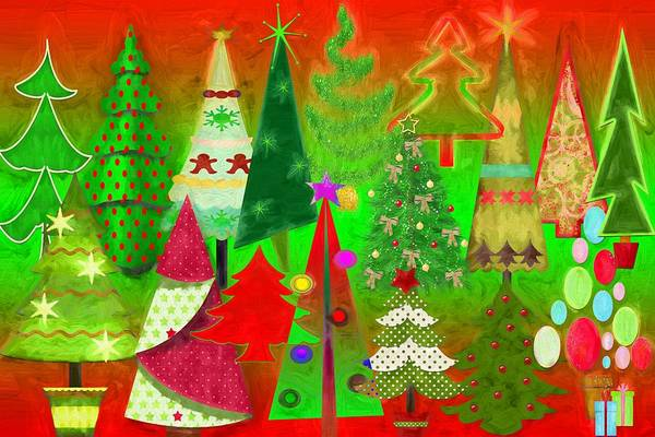 Christmas Season Wall Art - Digital Art - Christmas Trees by Steve Ohlsen