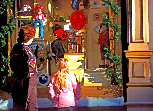Christmas Season Wall Art - Photograph - Christmas Window Display 1 by Steve Ohlsen