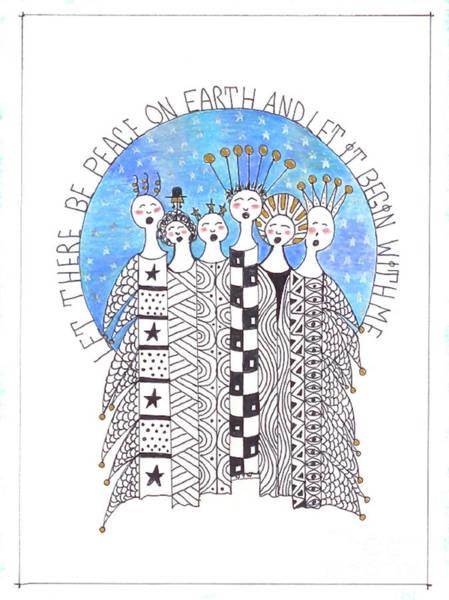 Wall Art - Drawing - Christmas Wish by Nancy TeWinkel Lauren