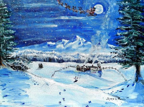 Frost Bank Painting - Christmas Wonderland by Shana Rowe Jackson