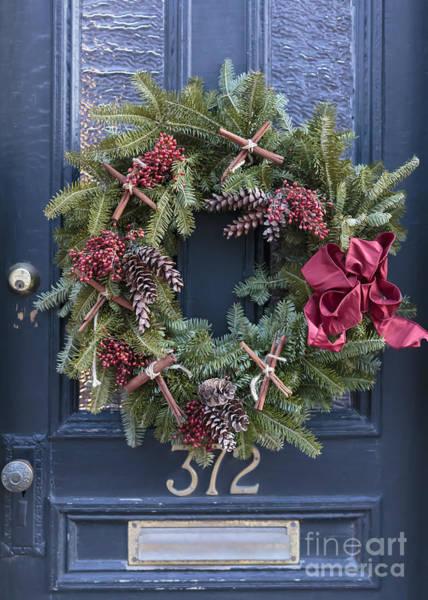 Christmas Decoration Wall Art - Photograph - Christmas Wreath by Edward Fielding