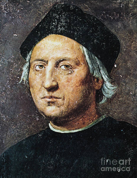 Painting - Christopher Columbus by Granger