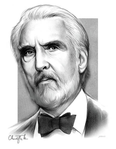 Wall Art - Drawing - Christopher Lee by Greg Joens