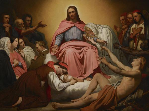 Wall Art - Painting - Christus Consolator, 1851 by Ary Scheffer