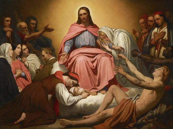 Wall Art - Painting - Christus Consolator by Scheffer Ary