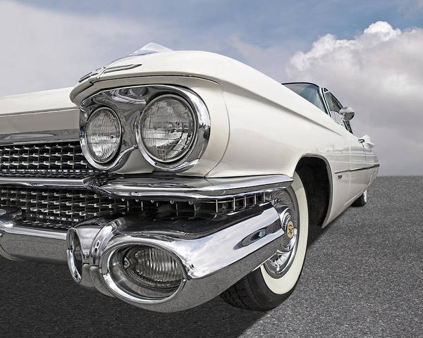 Photograph - Chrome Heaven - '59 Cadillac by Gill Billington