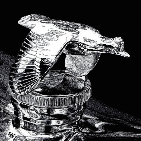 Drawing - Chrome In Flight by Ann Ranlett