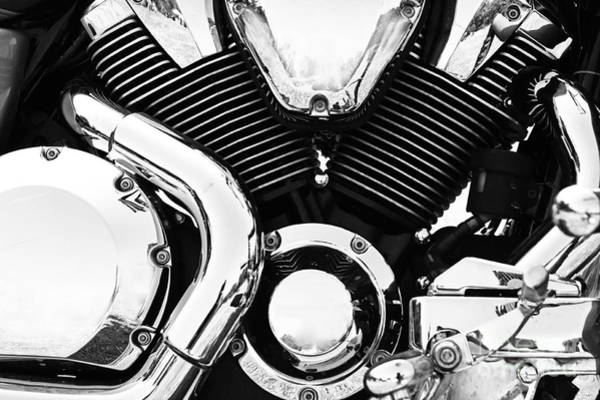 Photograph - Chrome Motorcycle Engine by Dimitar Hristov
