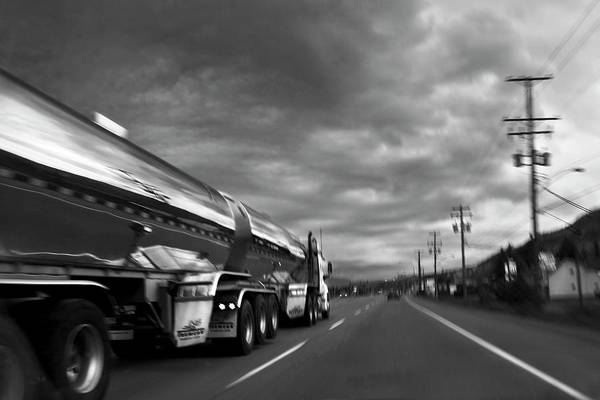 Semi Truck Photograph - Chrome Tanker by Theresa Tahara