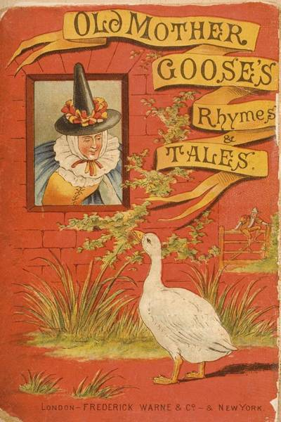 Mother Goose Drawing - Chromolithographic Cover Illustration by Vintage Design Pics