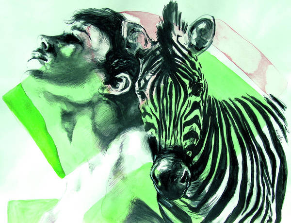 Painting - Chronickles Of Zebra Boy   by Rene Capone
